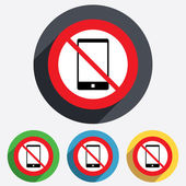 Do not call. Smartphone sign icon. Support. — Stock Vector