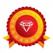 Stock vektor: Diamond sign icon. Jewelry symbol. Gem stone.
