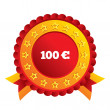100 Euro sign icon. EUR currency symbol. — Stock Vector