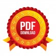 Stock Vector: PDF download icon. Upload file button.