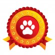 Stock vektor: Dog paw sign icon. Pets symbol.