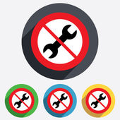 Do not Repair tool sign icon. Service symbol. — Stock Vector