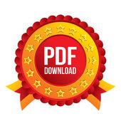 PDF download icon. Upload file button. — Stock Vector