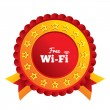 Stock vektor: Free wifi sign. Wifi symbol. Wireless Network.