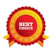 ícone de sinal melhor escolha. símbolo de oferta especial. — Vetor de Stock