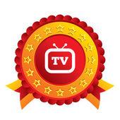 Retro TV sign icon. Television set symbol. — Stockvektor