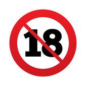 Keine 18 jahre alt-zeichen. erwachsenen-inhalte. — Stockvektor