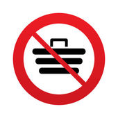 No Shopping Cart sign icon. Online buying button. — Stock Vector