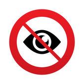 No look. Eye sign icon. Publish content button. — Stock Vector