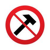 No Hammer sign icon. Repair service symbol. — Stock Vector