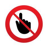 No Hand cursor sign icon. Hand pointer symbol. — Stock Vector