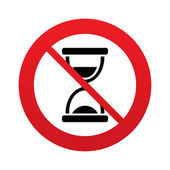 No time. Hourglass sign icon. Sand timer symbol. — Stock Vector