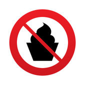 No Muffin food sign icon. Sweet cake symbol. — Stock Vector