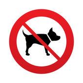 No Dog sign icon. Pets symbol. — Stock Vector