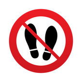 Imprint shoes sign icon. Shoe print symbol — Vettoriale Stock