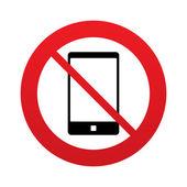 Ningún icono de signo de smartphone. símbolo de apoyo. — Vector de stock