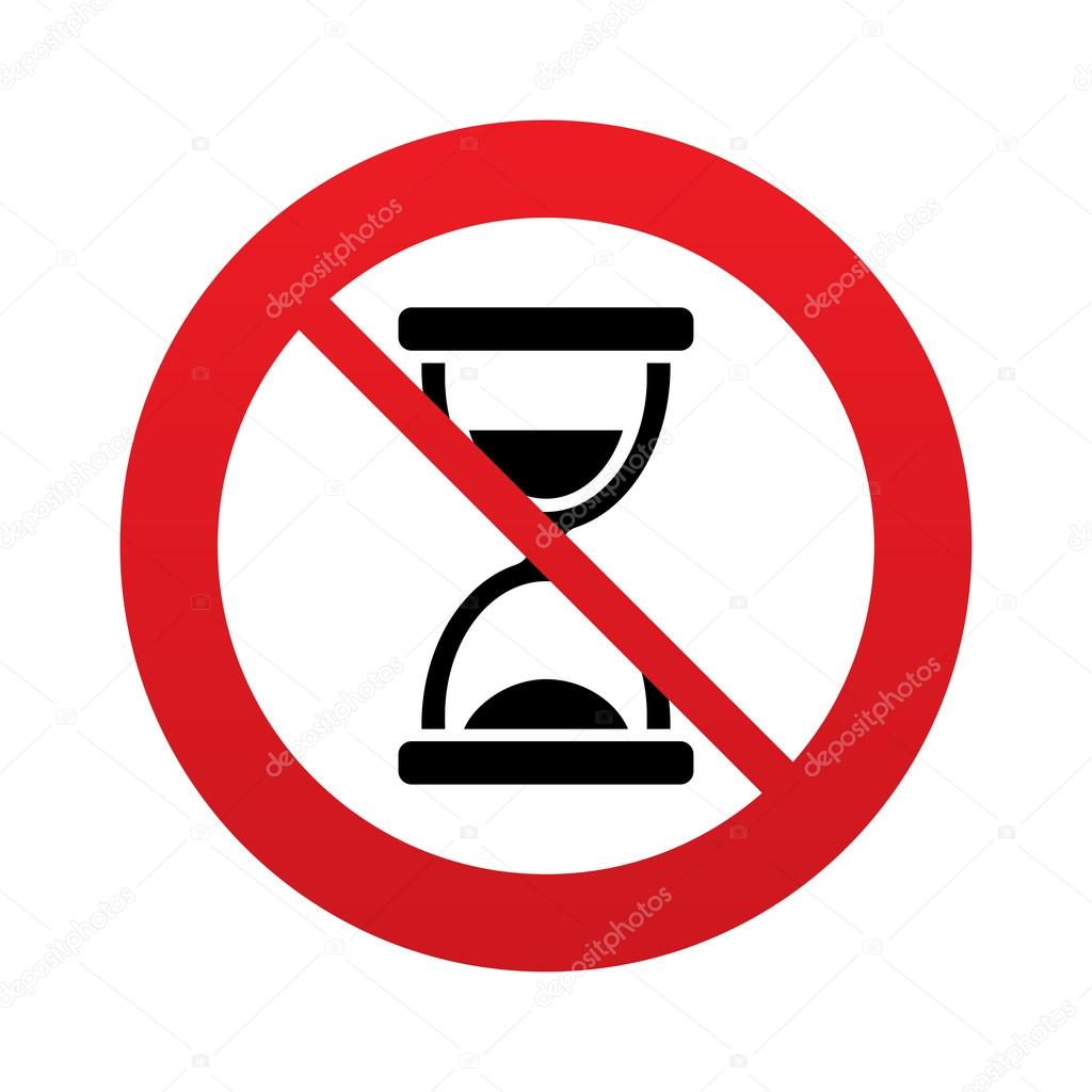 no time hourglass sign icon sand timer symbol � stock