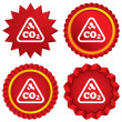 CO2 carbon dioxide formulsign icon. Chemistry — Stock Vector #40755459