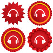 Stock Vector: Headphones sign icon. Earphones button.