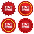 Live music sign icon. Karaoke symbol. — Stock Vector #40757023