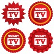 ������, ������: Widescreen Smart TV sign icon Television set