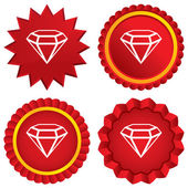 Diamond sign icon. Jewelry symbol. Gem stone. — Stock Vector