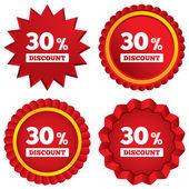 30 percent discount sign icon. Sale symbol. — Stock Vector