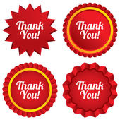 Thank you sign icon. Customer service symbol. — Stock Vector