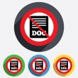 Stock Photo: File document icon. No Download doc button.