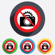 No Photo camera sign icon. Photo flash symbol. — Stock Photo #40797871