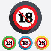 No 18 years old sign. Adults content. — Stock Photo