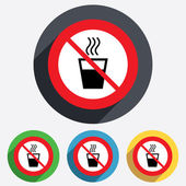 No Hot water sign icon. Hot drink symbol. — Stock Photo