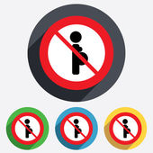 No Pregnant sign icon. Pregnancy symbol. — Stock Photo