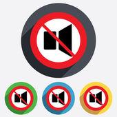 Speaker volume sign icon. No Sound symbol. — Foto de Stock