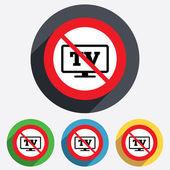 No Widescreen TV sign icon. Television set. — Stock Photo