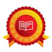 Book sign icon. Open book symbol. — Stockfoto