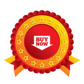 Buy now sign icon. Online buying arrow button. — Stock Photo