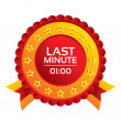 Last minute icon. Hot travel symbol. — Foto Stock #40810421