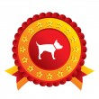 Dog sign icon. Pets symbol. — Stock Photo
