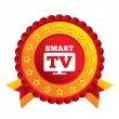 Widescreen Smart TV sign icon. Television set. — Stock Photo