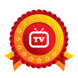 Retro TV sign icon. Television set symbol. — Stock Photo