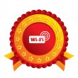 Free wifi sign. Wifi symbol. Wireless Network. — Stock Photo