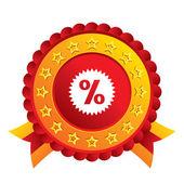 Discount percent sign icon. Star symbol. — Stock Photo