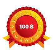 100 dolar simgesi imzala. ytl para birimi simgesi. — Stok fotoğraf