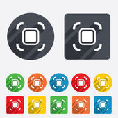 Autofocus zone sign icon. Photo camera settings. — Stock Vector