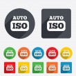 ISO Auto photo camersign icon. Settings symbol — Stock Vector #40842307