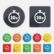 Timer 10s sign icon. Stopwatch symbol. — Vector de stock