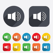 Speaker volume sign icon. Sound symbol. — Stock Vector