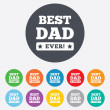 Best father ever sign icon. Award symbol. — Stock Vector #40965813