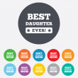 Best daughter ever sign icon. Award symbol. — Stock Vector #40965829
